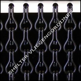 Kriska Effen Zwart 11 ketting vliegengordijn (kant en klaar)