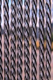 Malaga luxe vliegengordijn 95 x 210 cm zwart/transparant