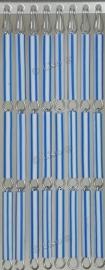 Vliegengordijn Blauw Wit gestreept 021 (doe-het-zelf-pakket)