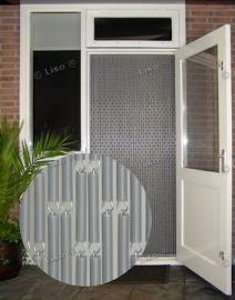 Effen Vliegengordijn Zilver metallic 32 (doe-het-zelf-pakket)