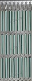 Vliegengordijn Groen wit gestreept 022 (doe-het-zelf-pakket)