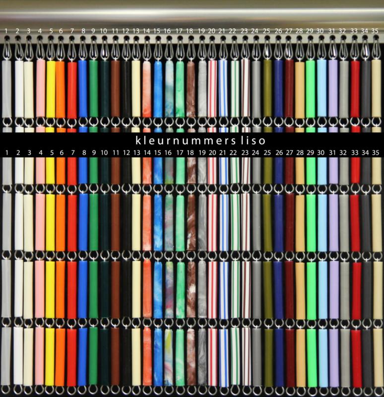 Kleurenstaal vliegengordijn Type Liso