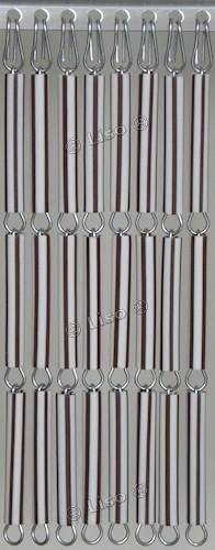 Vliegengordijn Bruin wit gestreept 23 (doe-het-zelf-pakket)