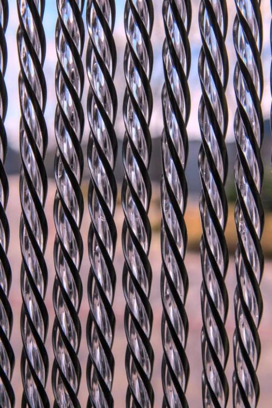 Malaga luxe vliegengordijn 100 x 230 cm zwart/transparant