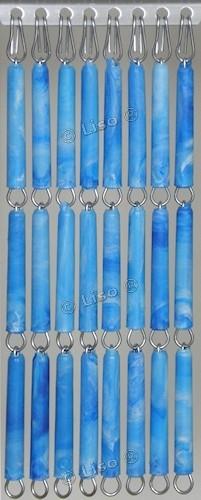 Effen Vliegengordijn Blauw Gevlamd 15 (doe-het-zelf-pakket)