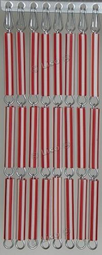 Vliegengordijn Rood Wit Gestreept 20 (doe-het-zelf-pakket)