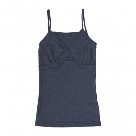 Joha wolzijden dameshemd nachtblauw