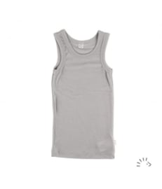 Iobio wolzijden hemd zilvergrijs