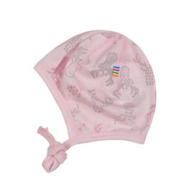 Joha wollen strikmuts roze Elk