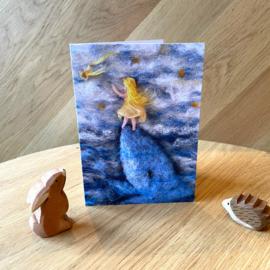 Het Wol Feetje - Ansichtkaart Meisje bij de walvis