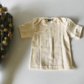 Cosilana wolzijdekatoen hemdje met korte mouw naturel