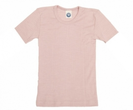 Cosilana wolzijdekatoenen shortsleeve roze