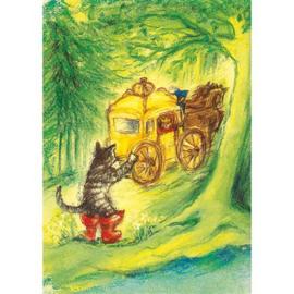 Ansichtkaart de gelaarsde kat