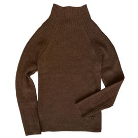 Esencia - Alpaca wollen sweater dames coffee
