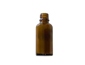 Glazen druppelflesje 30ml amber