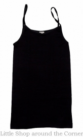 Cosilana wolzijden hemdje met spaghettibandjes zwart
