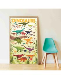 Poppik Stickerposter Dinosaurussen