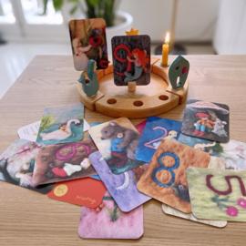 Het Wol Feetje - Jaarring kaartjes Bloemen