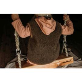 Alwero - Wollen bodywarmer bark