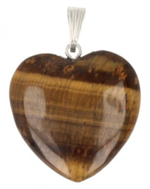 Tijgeroog hangertje hart