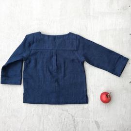 Simply Grey Kids linnen shirt marine