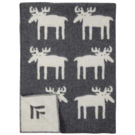 Klippan wollen 1 persoons deken Moose