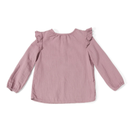 DAILY BRAT LUNA RUFFLE TOP DUSTY LILAC 1/2 jaar