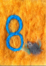 Het Wol Feetje - Ansichtkaart Cijfer 8 egel