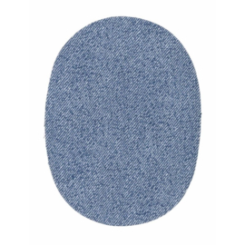 Opry Knielap opstrijkbaar jeans medium blue
