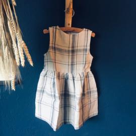 Simply Grey Kids linnen jurk zonder mouw vintage checks