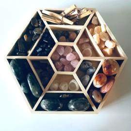 Mandala display voor mineralen en edelstenen