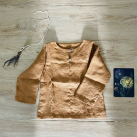 Simply Grey Kids linnen shirt cinnamon melange