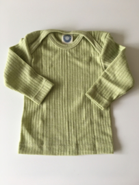Cosilana wolzijdekatoen baby longsleeve groen