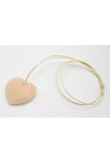 Kunstwerk - Speksteen amuletten set hart diy