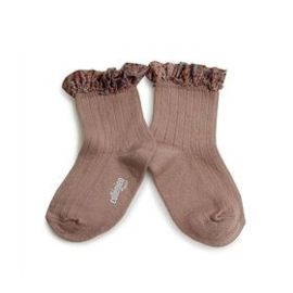 Collégien frilly socks adult Petite Taupe