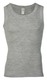 Engel Natur wolzijden hemd grijs voor mannen