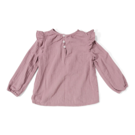 DAILY BRAT LUNA RUFFLE TOP DUSTY LILAC