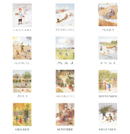 Elsa Beskow Postcards set 12 months