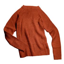 Esencia - Alpaca wollen sweater dames brickred