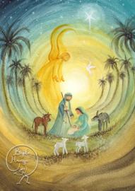 Bijdehansje - Ansichtkaart Nativity