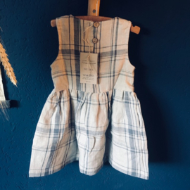 Simply Grey Kids linnen jurk zonder mouw vintage checks
