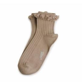 Collégien frilly socks Praline de Lyon, 36-38