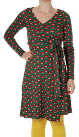 Duns Sweden Wrapdress Dames Radish Charcoal