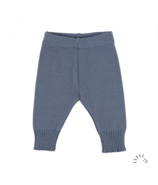Iobio wollen gebreide broek grijsblauw
