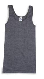 Cosilana wol/zijde/katoenen dameshemd zwart