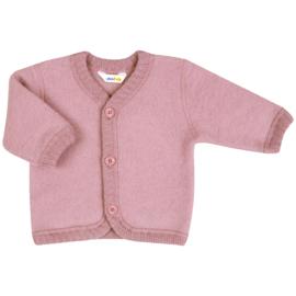 Joha wollen wolfleece vest Roze