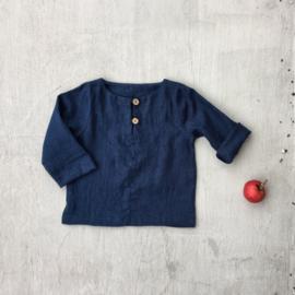 Simply Grey Kids linnen shirt navy