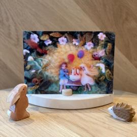 Het Wol Feetje - Ansichtkaart Verjaardag en Feest
