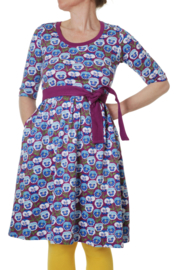 Duns Sweden Scoopdress Dames Pansy Hyacinth