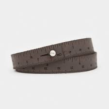 Ilovehandles leather wrist ruler dark